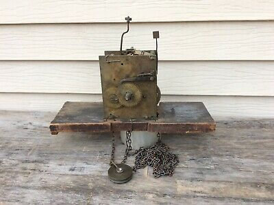 Early 30 Hour Tall Case Weight Chain Driven Clock Movement, Parts / Repairs