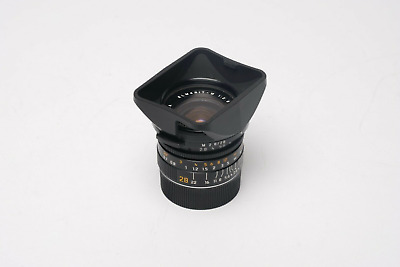 Leica Elmarit-M 28mm f/2.8 IV (11809) in Excellent Condition with Caps, Hood, UV