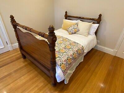 Antique Timber Bed (Non Standard Double Size - Original & Beautiful)