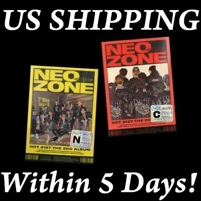 US SHIPPING NCT 127 [NCT #127 Neo Zone] Album CD+Poster/On+Book+Card+Post+Lyric
