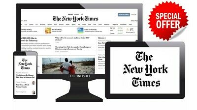 The New York Times 5-Year Digital Unrestricted Subscription PC Tablet Smartphone
