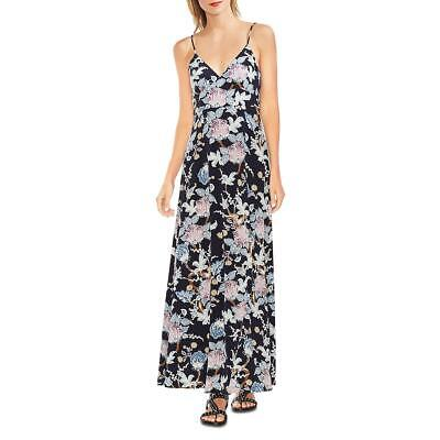 Vince Camuto Womens Poetic Blooms Navy Floral Print Maxi Dress XL BHFO 9738