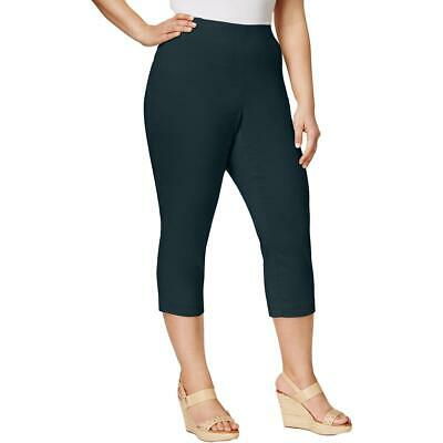 Style & Co. Womens Navy Comfort Waist Cropped Capri Pants Plus 20W BHFO 0787