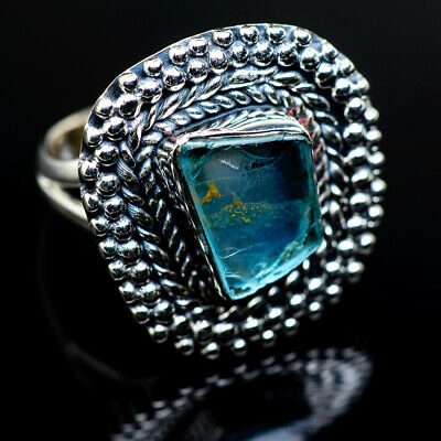 Aquamarine 925 Sterling Silver Ring Size 7.25 Ana Co Jewelry R987972