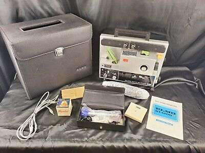 Elmo Sound ST-1200 Magnetic Super 8mm Movie Projector W/Case & Accessories WORKS