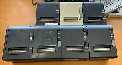 BUNDLE Of 7 Assorted Epson Thermal Receipt Printers 129H 129C TM-T88 Retail POS