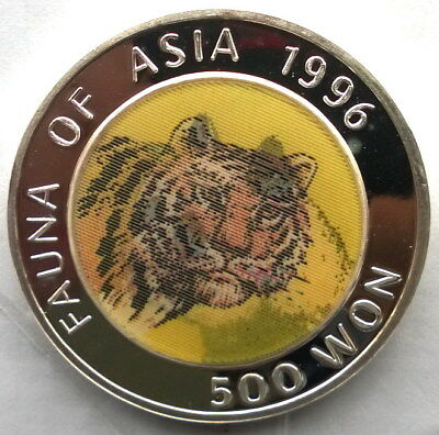 Korea 1996 Tiger Panda 500 Won 1oz Silver Coin,Proof