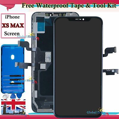 For Apple iPhone XS MAX OLED LCD Touch Screen Display Digitizer Black Frame UK
