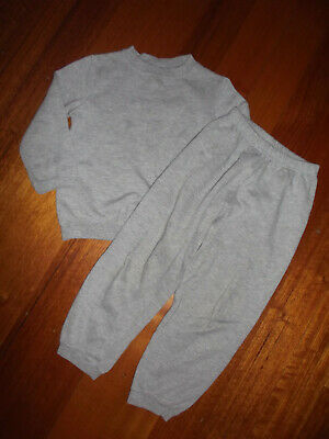 """H & T"" Boys Or Girls Grey Trackpants And Sweat Top ** Size 5"