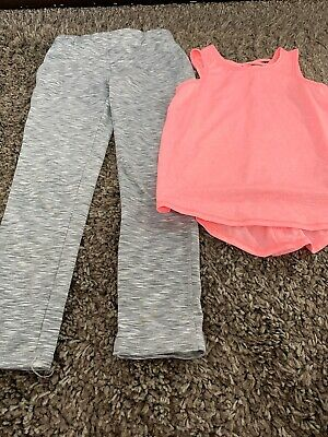 Girls Top/ Leggings For Dance/Gym, Age 8/9