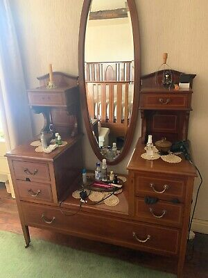 Edwardian bedroom suite - Double Bed, Dressing Table And Double Wardrobe
