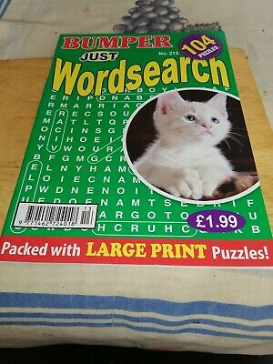 Bumper just wordsearch A4