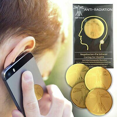 2 Pack Anti EMF Radiation Protection Shield Stickers for Cell Phone, Laptop