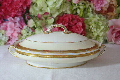 """Gorgeous Minton, """"Westminster"""" #K154 Gold Encrusted Oval Tureen"""
