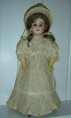 """14"""" Antique French Wind up Mechanical Doll"""