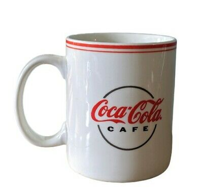COCA-COLA Cafe white coffee cup mug Gibson 2002