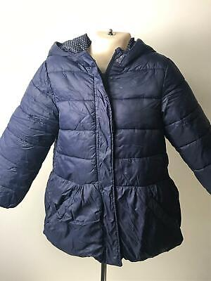 Girls Marks & Spencer Navy Bow Detail Hooded Coat Jacket Kids Age 4-5 Years