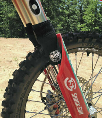 """Shock Sox Fork Seal Protector for Offroad 4/"""" Mini for Conventional Forks Black"""