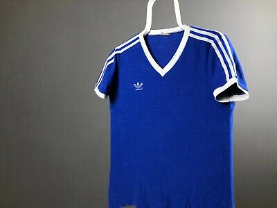 Vintage Adidas Made in Western Germany 3 Striped Football Shirt