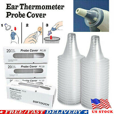 200Pcs Ear Thermometer Cover Lens Filters Probe Cover Caps For Braun Thermoscan