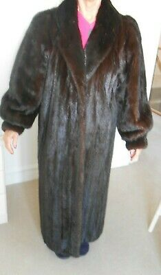 Full Length Ranch Mink Coat Size 12/14