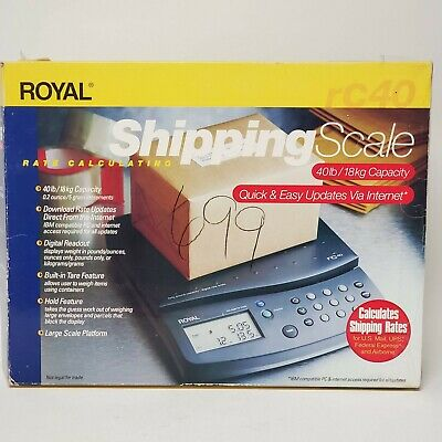 Royal 40 Pound Capacity Digital Rate Scale RC40 40lb