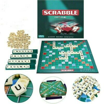 UK Scrabble Board Game Family Kids Adults Educational Toys Puzzle Game