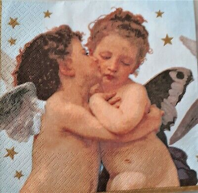 Angel Thinking Wings Two Individual Paper Luncheon DECOUPAGE Napkins 767