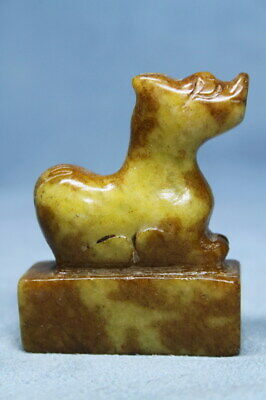 Exquisite Handwork Jade Carving Horse Auspicious Beautiful Noble Rare Statue