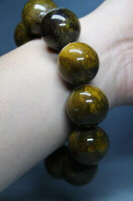Exquisite Handwork Collectable Decoration Natural Amber Beautiful Beads Bracelet