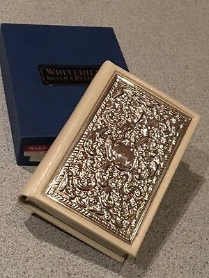 Whitehill Silver And Leather Bible New In Box