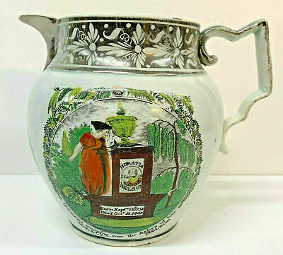 Ancien Commémorative Horatio Lord Viscount Nelson Cruche Pearlware 1805