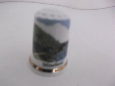 G W Potteries Thimble In Plastic Case - England Bone China  - Minehead
