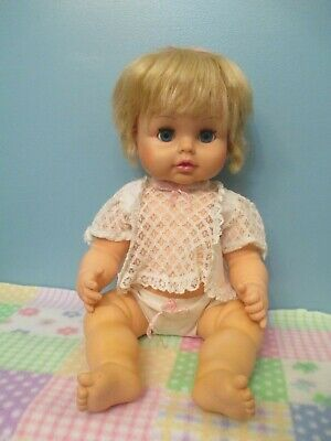 Super Cute, All Original, Vintage, All Vinyl, Jointed Baby Doll by Horsman, 1971
