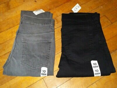 Childrens Place 2 Pairs of Boys Jeans Sz 10 Super Skinny Adjustable Waist NWT