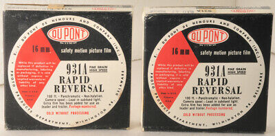 two 100' rolls Dupont 931A b&w Motion Picture Film in original boxes  ASA 80-160