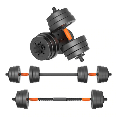 2 in 1 Convertable Lifting Dumbell to Barbell 10 Kg Indoor Fitness Gym Equipment