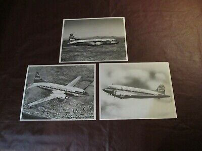 3 early inflight 8x10 photographs - BRANIFF INTERNATIONAL AIRWAYS AIRLINES