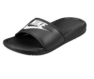 Nike Benassi JDI Black White 343880 090 Mens Slides Sandals Size 10