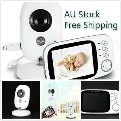 3.2'' LCD Digital Baby Video Audio Monitor Wireless Camera Night Vision AU