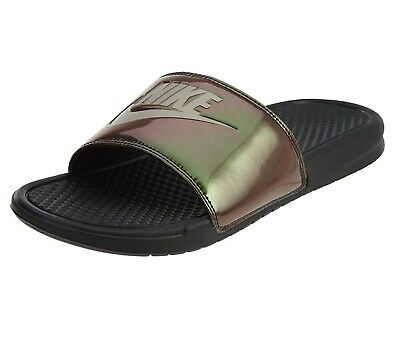 Nike Benassi JDI Print Black Cobblestone 631261 003 Mens Slides Pool Sandals