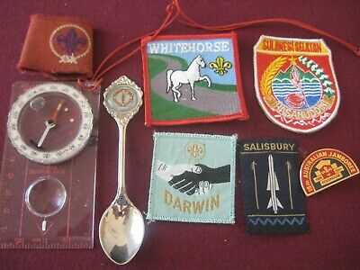 Boy Scouts Compass, Patches, Badge, Spoon
