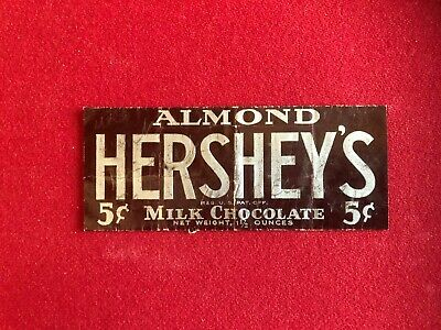 """1930's, HERSHEY'S """"ALMOND"""" Candy Bar Wrapper (Scarce / Vintage)"""