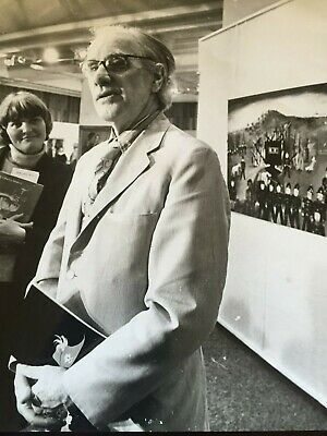 SIDNEY NOLAN...1977 Black & White Photograph...NED KELLY Art Gallery