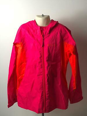 Girls Mountain Warehouse Pink & Orange Raincoat Jacket Kids Age 11-12 Years