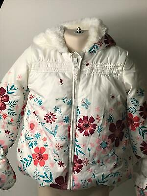 Girls George White Red Blue Hooded Coat Jacket Kids Age 12-18 Months