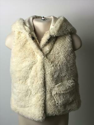 Girls Next Cream Faux Fur Gilet Body Warmer Coat Jacket Kids Age 12-18 Months