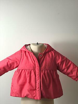 Girls Next Baby Red Hooded Coat Jacket Kids Age 6-9 Months