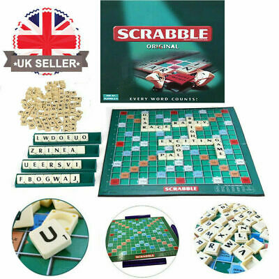 UK in stock! Scrabble Board Game Family Kids Adults Educational Toys Puzzle Game