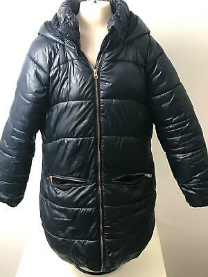 Girls  Next Navy Hooded Warm Winter Coat Jacket Kids Age 13 Yrs